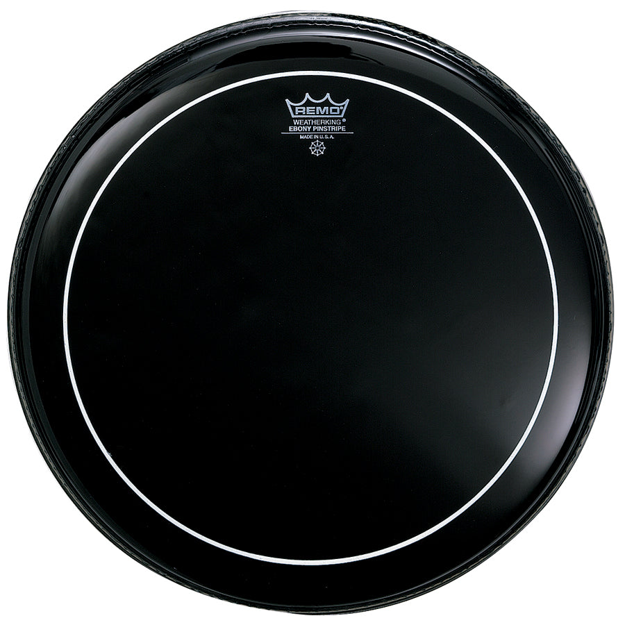 "Remo 20"" Ebony Pinstripe Drum Head"