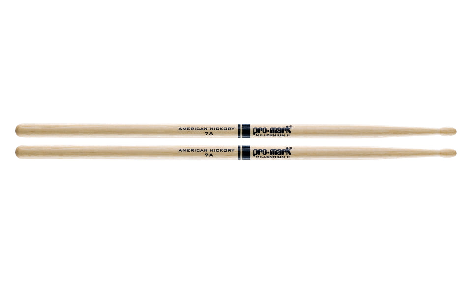 Promark TX7AW Hickory 7A Wood Tip Drumsticks