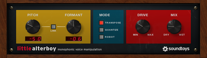 Soundtoys Little AlterBoy Monophonic Voice Manipulator Plug-In
