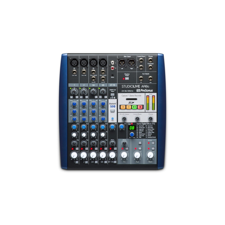 PreSonus StudioLive AR8c 8-Channel Hybrid Mixer and Audio Interface