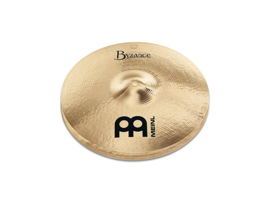 "Meinl 14"" Byzance Brilliant Medium Hi-Hat Cymbals"