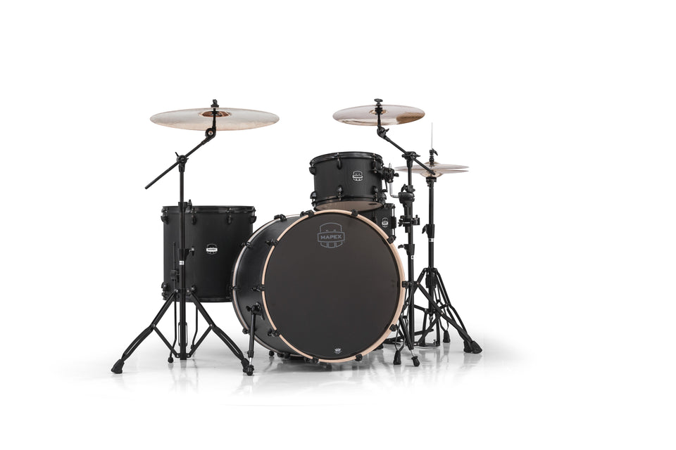 Mapex Mars Series 4-Piece Rock 24 Shell Pack Nightwood With Black Hardware