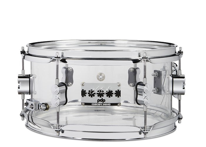 "PDP Chad Smith 12"" x 6"" Snare - Clear Acrylic"