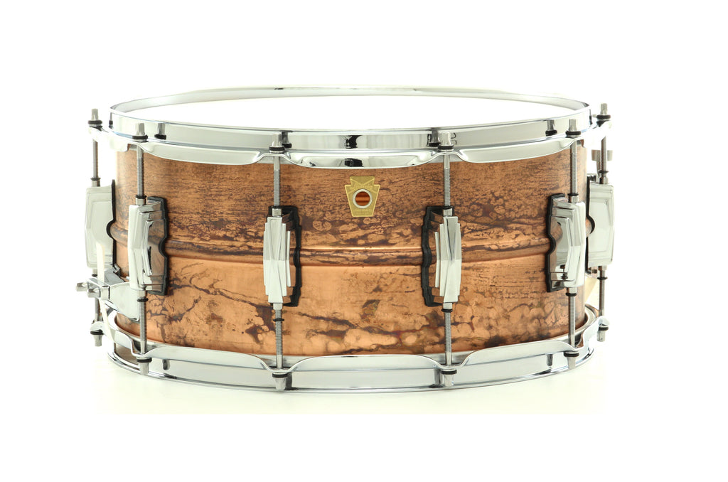 "Ludwig 14"" x 6.5"" Copper Phonic Snare Drum Smooth Raw Copper Finish"