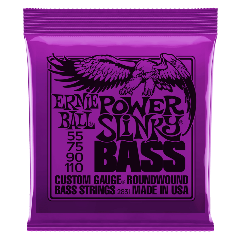 Ernie Ball Power Slinky Nickel Wound Electric Bass Strings .55-.110