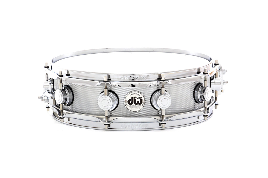 "Drum Workshop 14"" x 4"" Collector's Metal Snare Drum - Knurled Steel Chrome Finish"