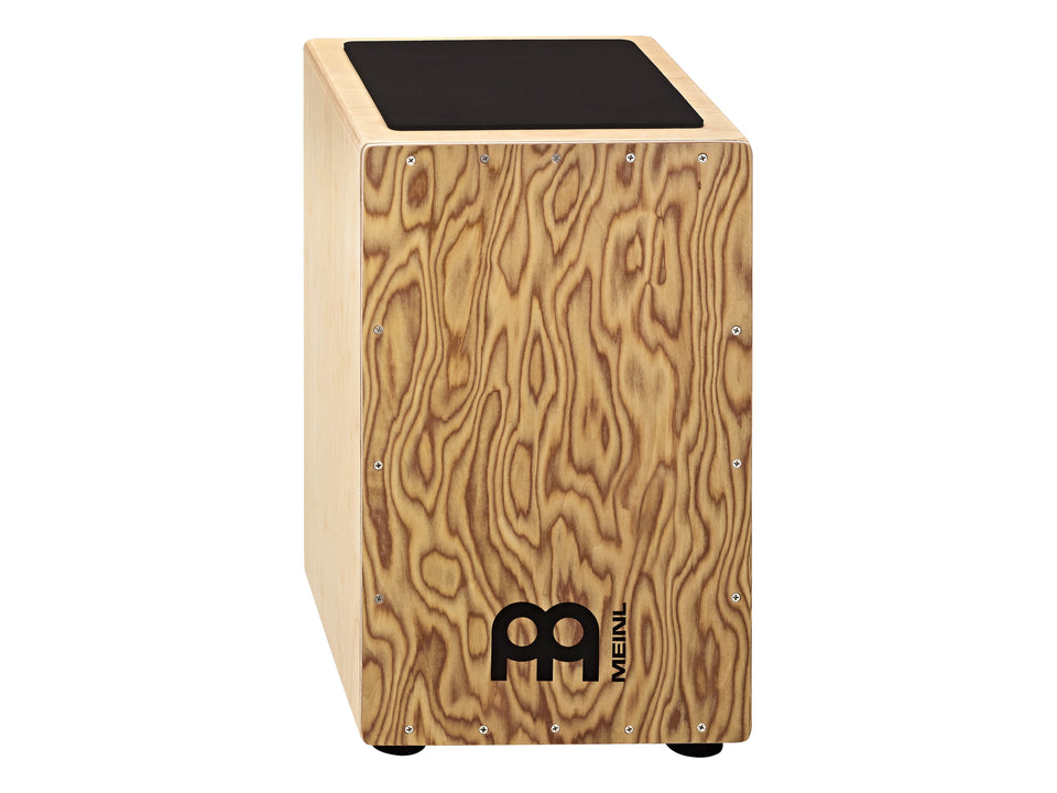 Meinl CAJ3MB-M Traditional String Cajon with Makah-Burl Wood Frontplate