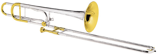 Conn 88HOSGX Professional Model Tenor Trombone Outfit - Silver Plated W/ Gold Plate Trim