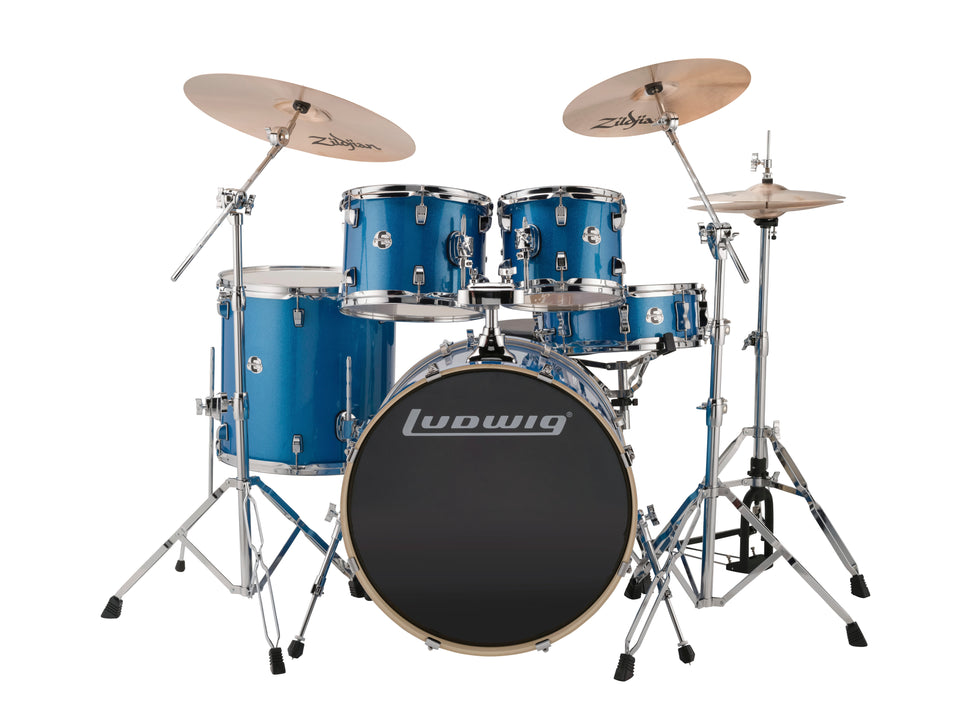 Ludwig Element Evolution 5 Piece Drum Set - Blue Sparkle