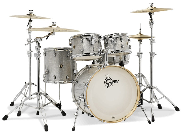 "Gretsch Catalina Maple 5 Piece Shell Pack W/ 20"" Kick - Silver Sparkle"