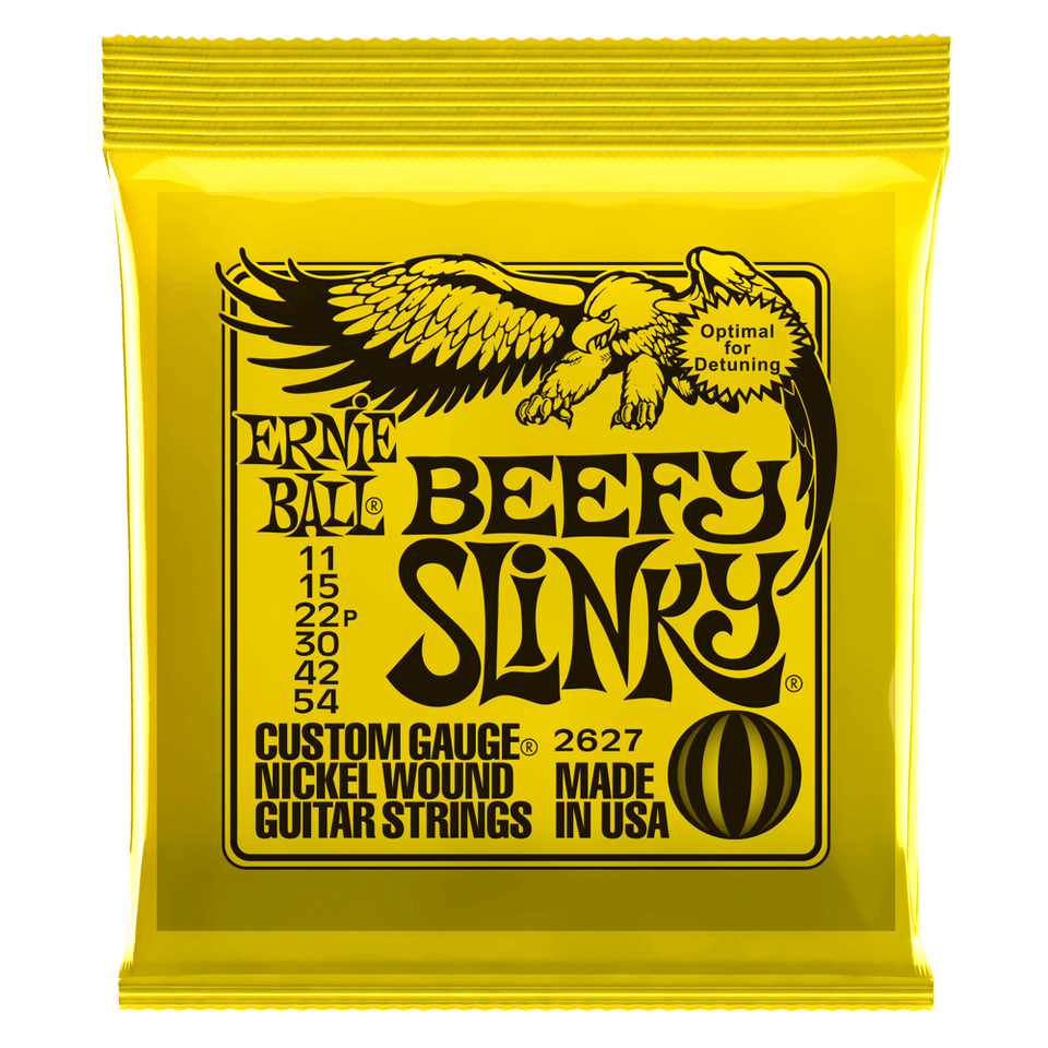 Ernie Ball Beefy Slinky Nickel Wound Electric Guitar Strings .11-.54