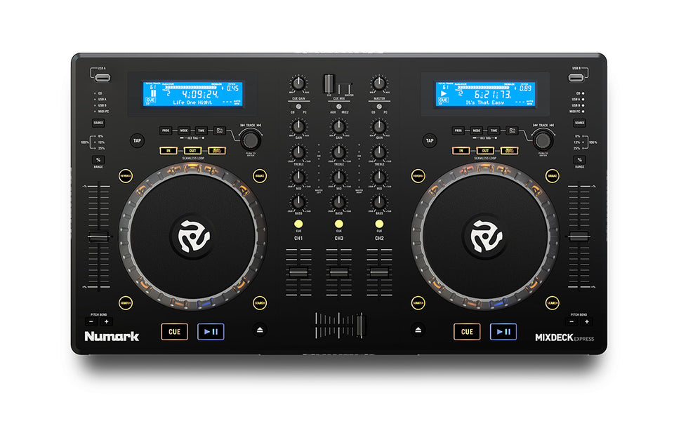 Numark Mixdeck Express 3 Channel Dual-Tray DJ Controller - Black