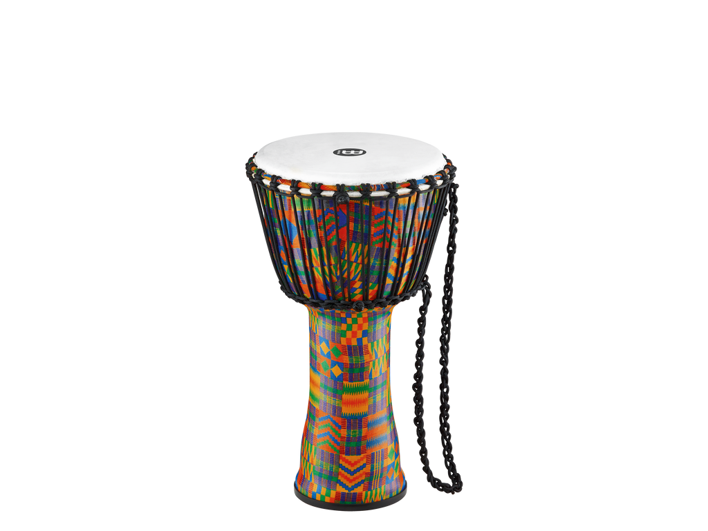 "Meinl 10"" Rope Tuned Travel Djembe Kenyan Quilt Synthetic Head"