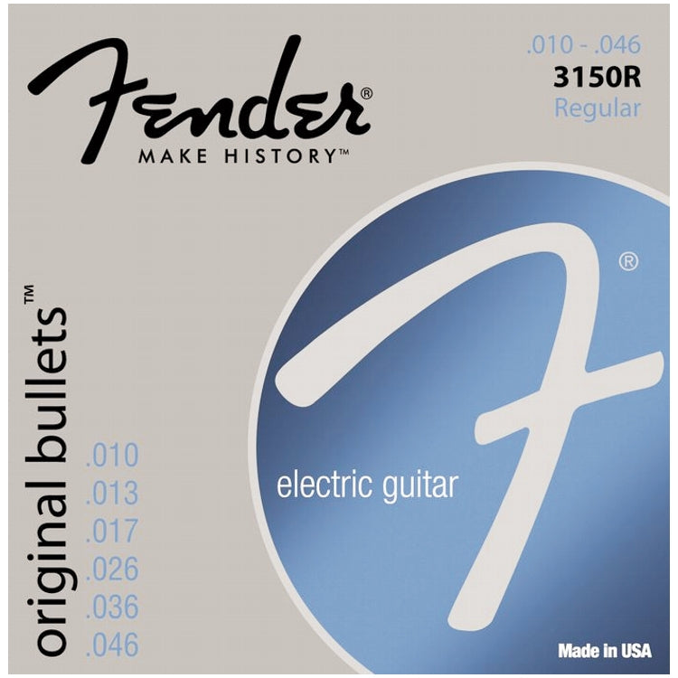 Fender 733150406 3150R Original Bullets Pure Nickel Wound Electric Guitar Strings, Regular (10 - 46)