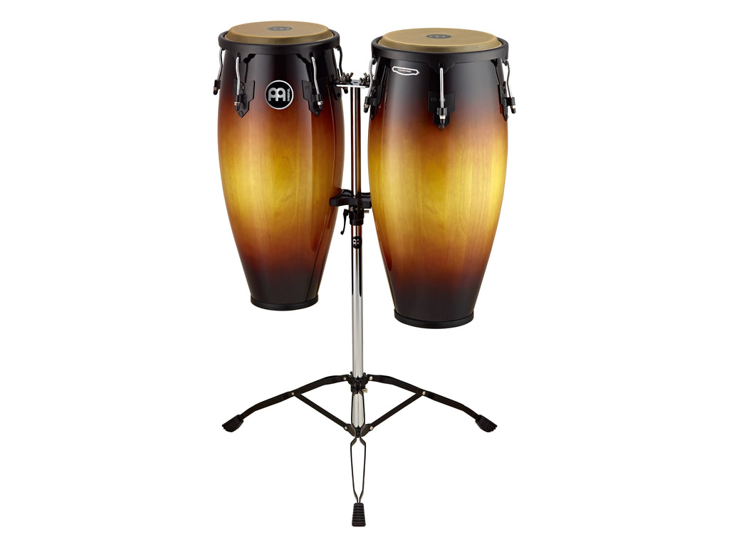 "Meinl HC888VSB Headliner Series Conga Set 10"" And 11"" With Stand - Vintage Sunburst"