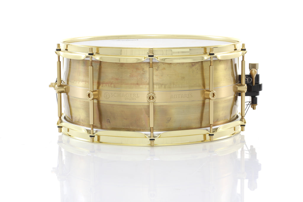 "Schagerl 14"" x 6.5"" Antares Snare Drum - Raw Lacquered"