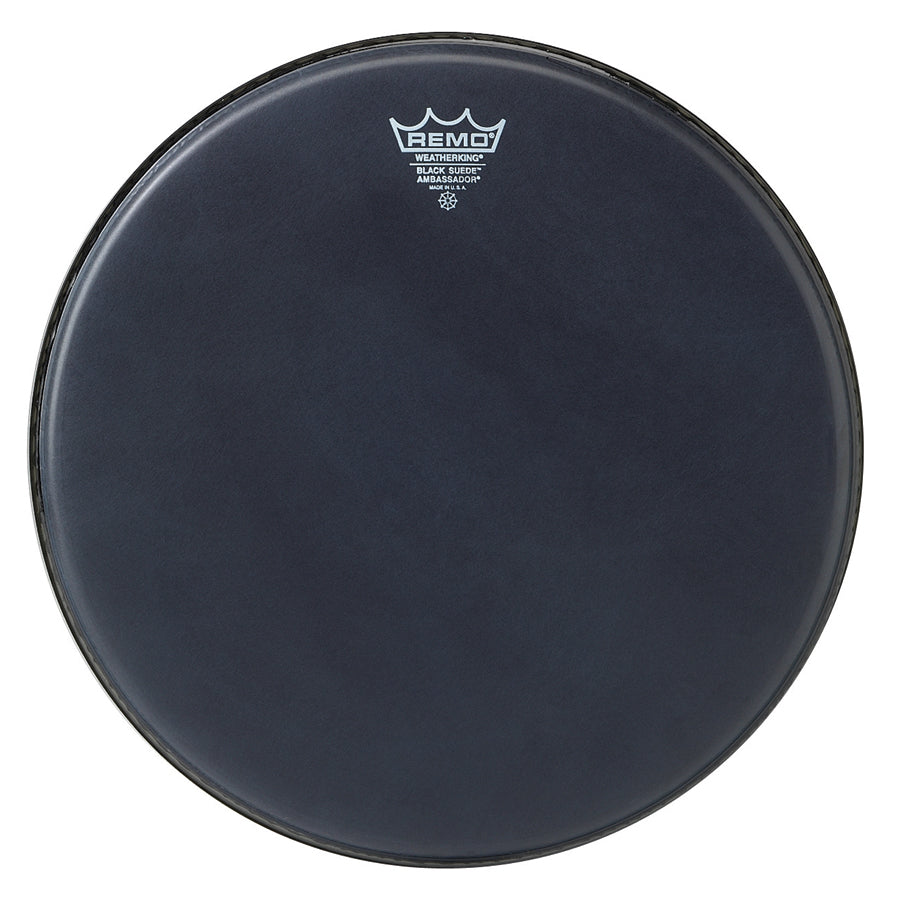 Remo Ambassador Black Suede Drum Head