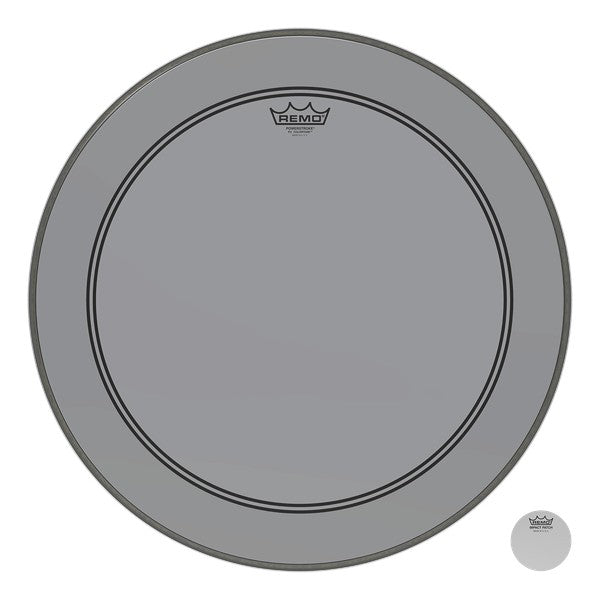 Remo Powerstroke P3 Colortone Bass Drumhead - Smoke