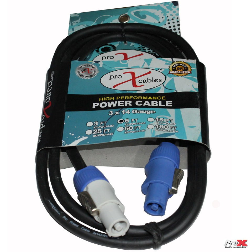 ProX XC-PWC14-06 6FT. POWERCON OUT to POWERCON Link High Performance 14AWG Power Cable