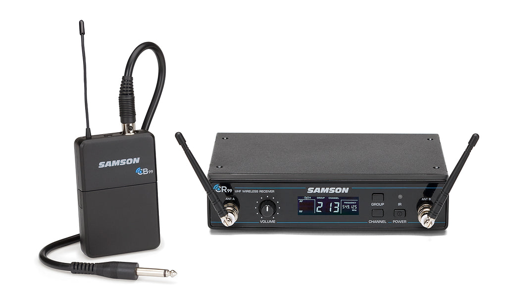 Samson Concert 99 Guitar Frequency Agile UHF Wireless System