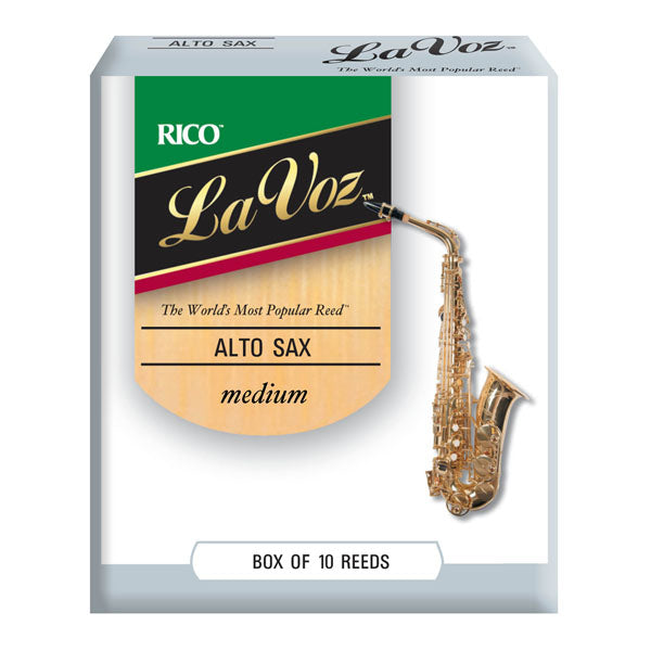 La Voz Medium Hard Alto Saxophone Reeds - 10 Pack