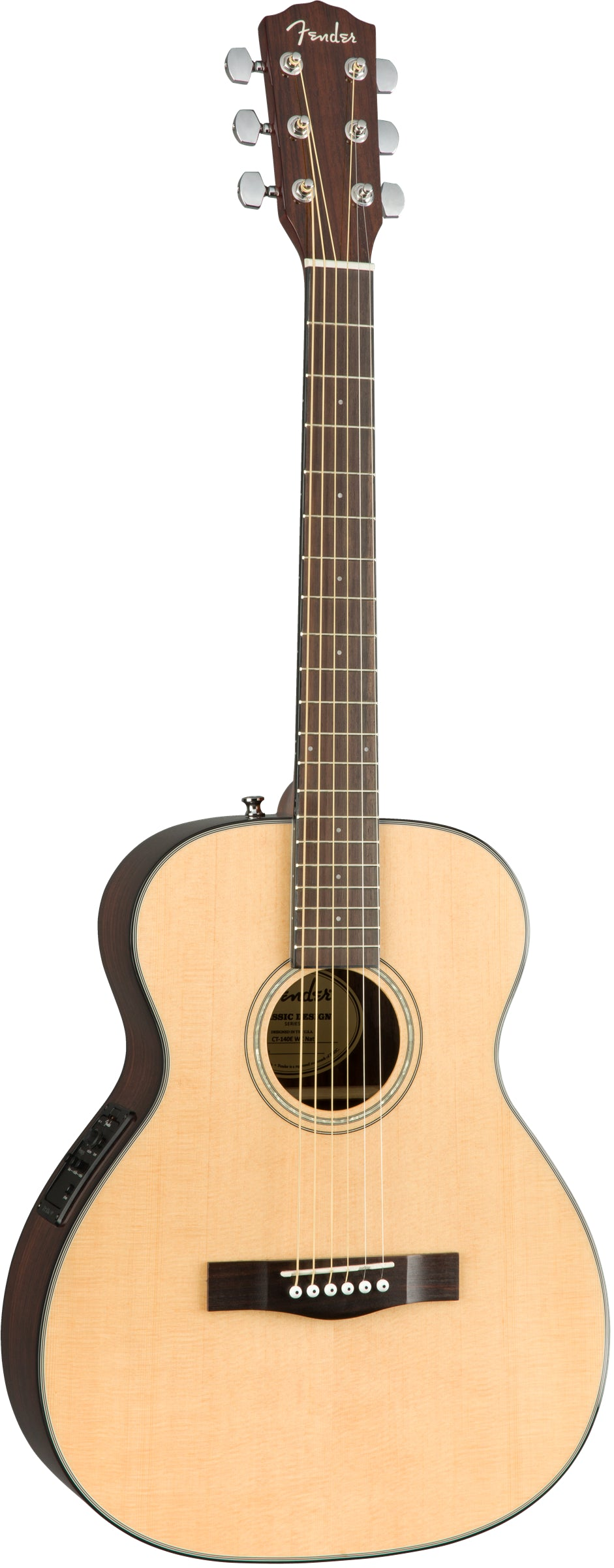 Fender CT-140SE Travel Size Acoustic Electric Guitar, With Case
