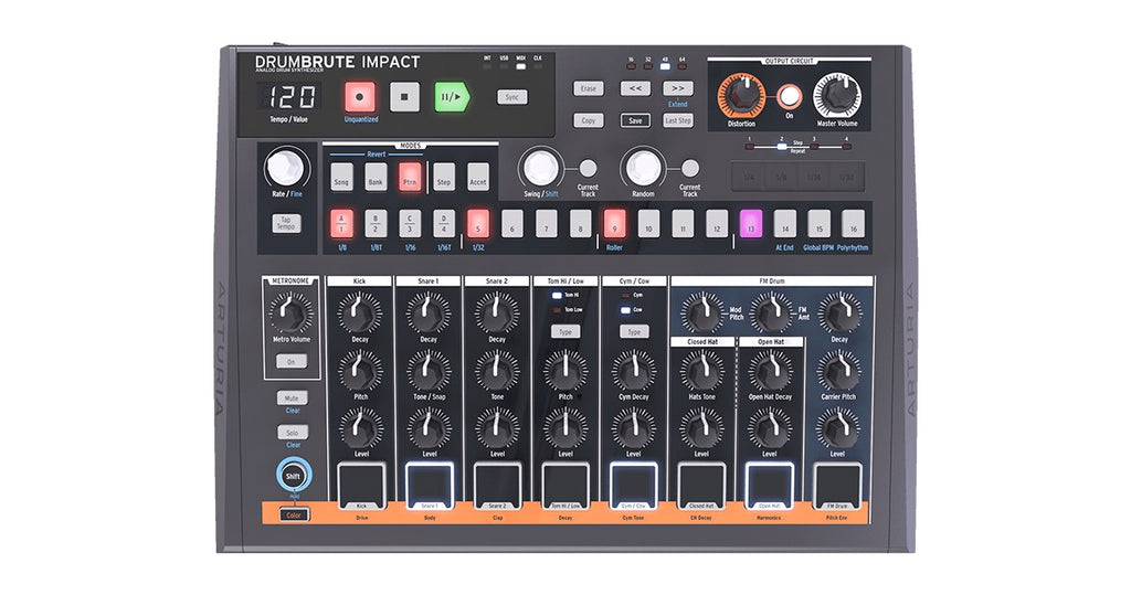 Arturia DrumBrute Impact Analog Drum Synthesizer