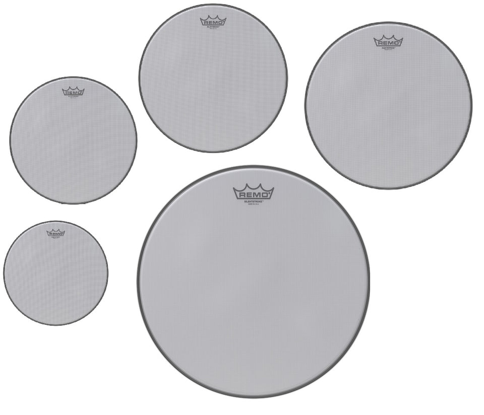 "Remo Silentstroke Pro Drum Head Pack - 10"", 12"", 14"", 16"", 22"""