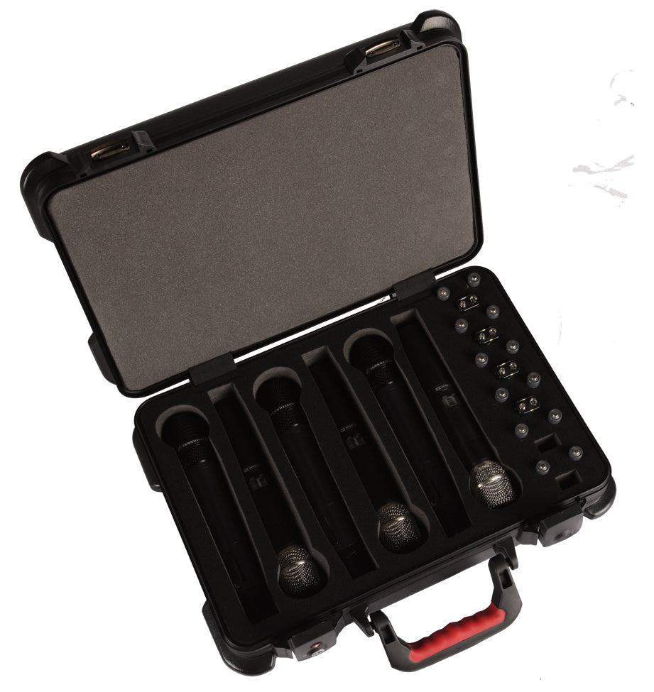 Gator GM-6W-TSA ATA Molded Case With TSA Latches For 6 Wireless Microphones