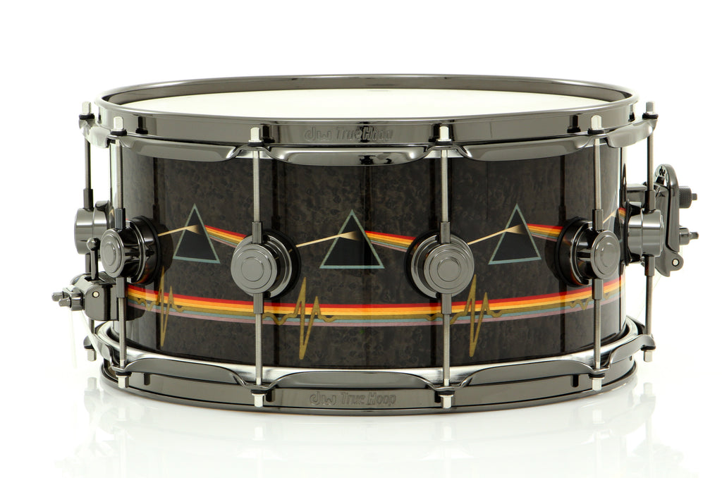 "Drum Workshop 14"" x 6.5"" Collector's Series ICON Snare Drum Pink Floyd Dark Side Of The Moon And Collector's Bag"
