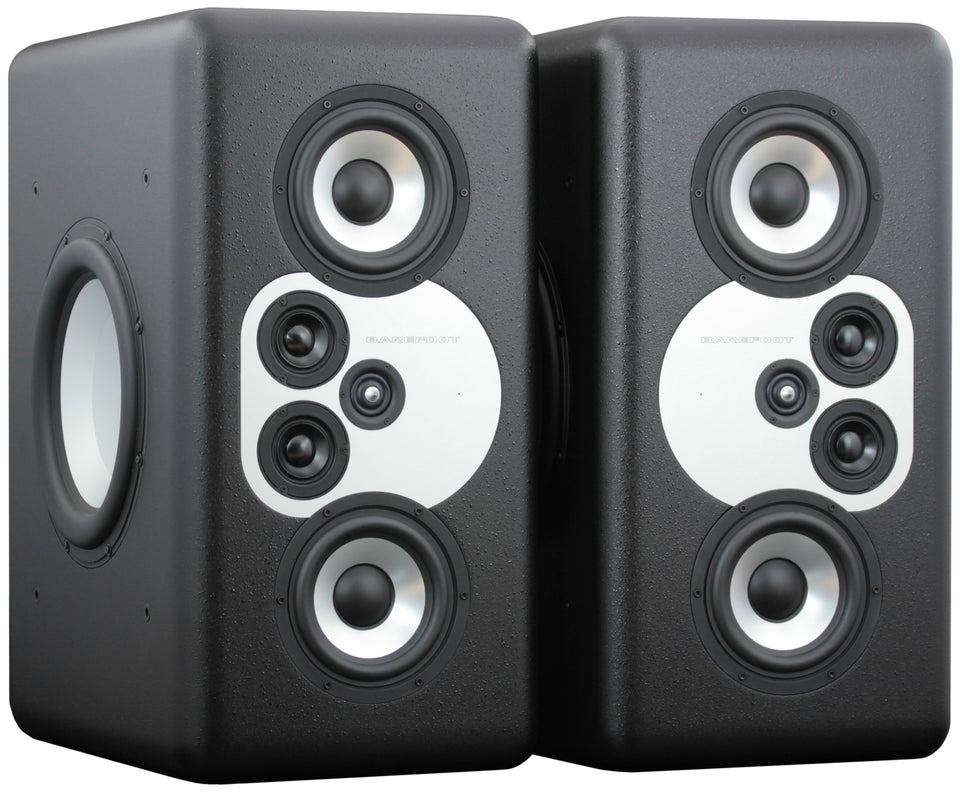 Barefoot Sound MiniMain 12 4 Way Active Studio Monitors - Pair Without Handles