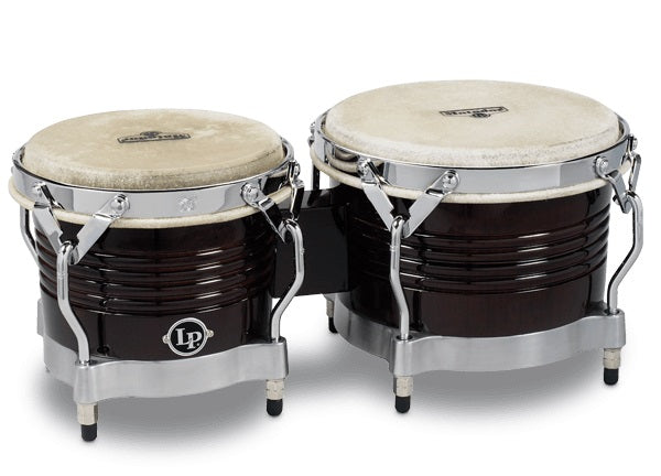 LP M201 Matador Wood Bongos, Dark Brown/Chrome