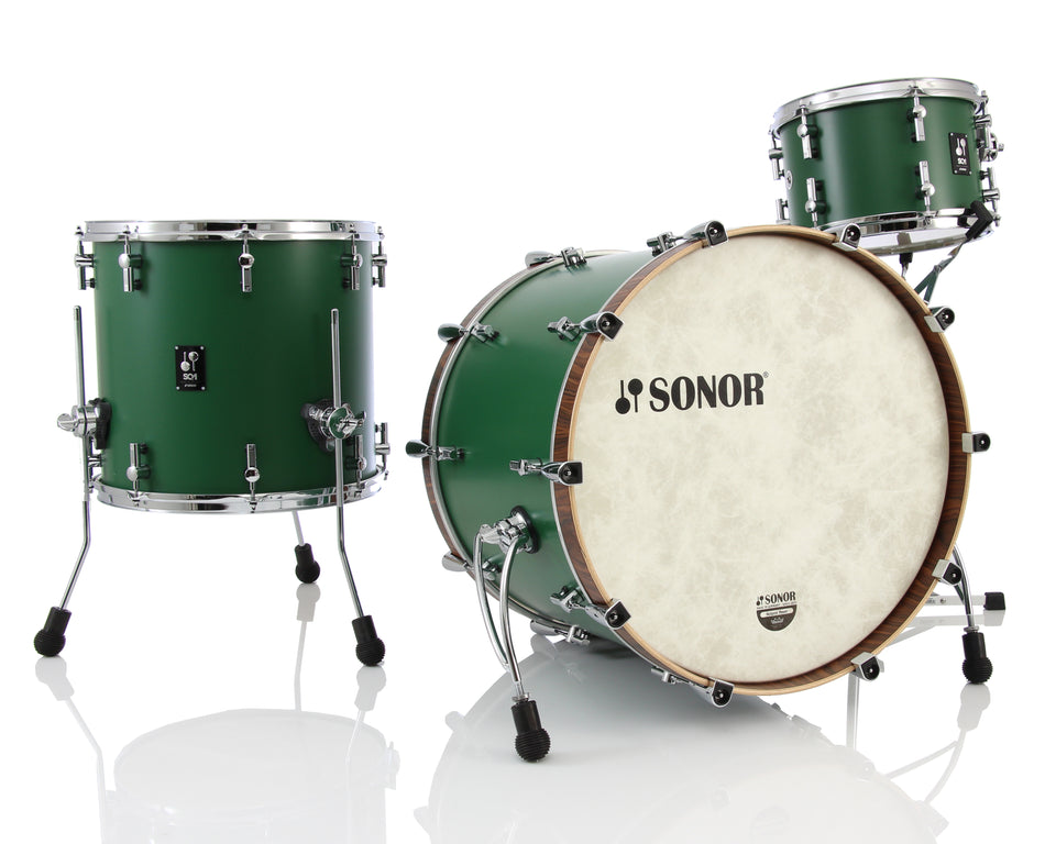 "Sonor SQ1 22"" Kick 3 Piece Shell Pack - Roadster Green"