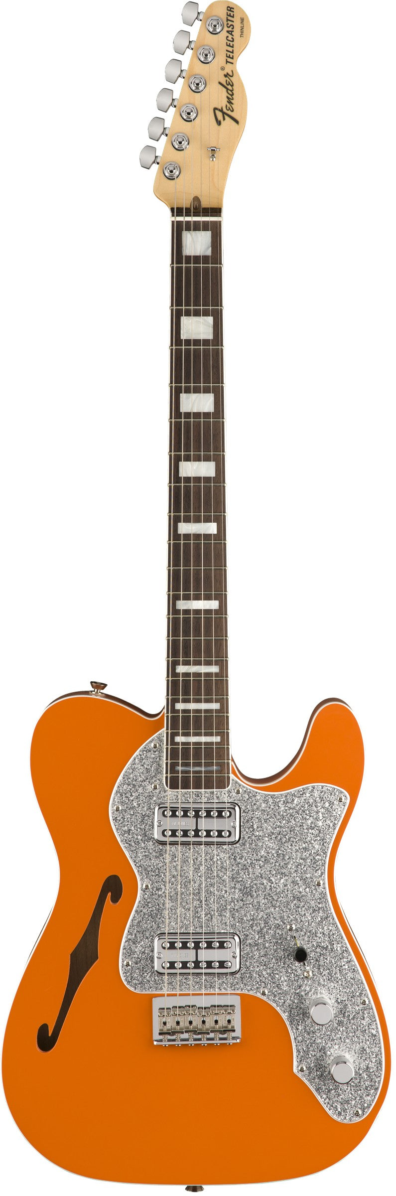 Fender 2018 Limited Edition Tele Thinline Super Deluxe - Rosewood Fingerboard, Orange