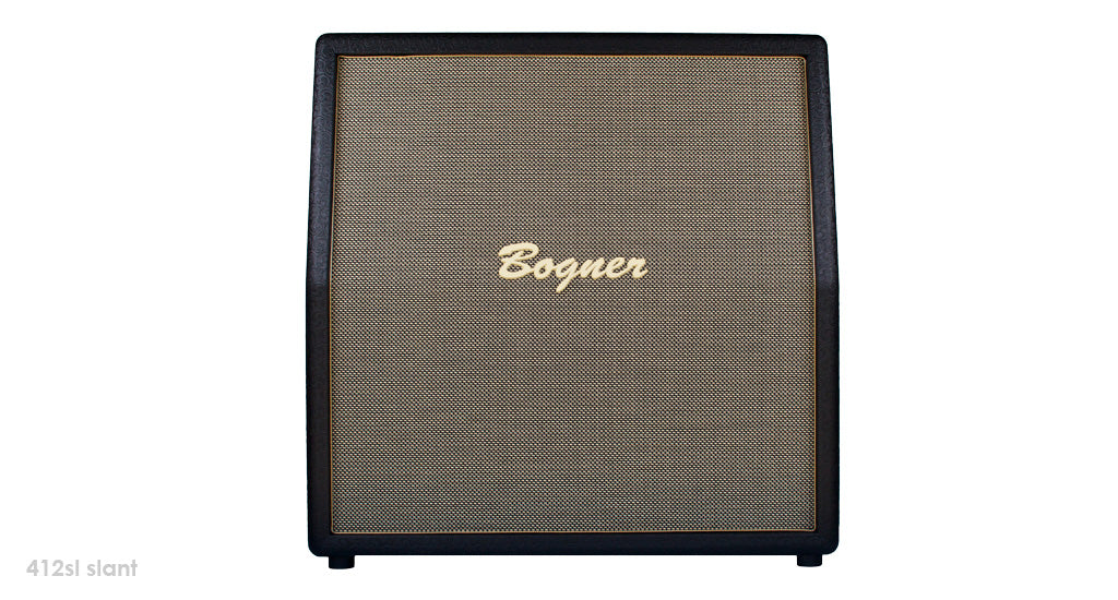"Bogner 412SL Custom 4 x 12"" Slant Guitar Amplifier Cabinet W/ Celestion Greenbacks"