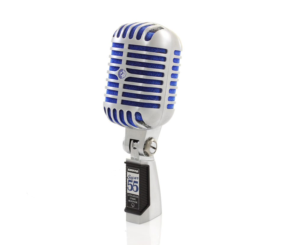Shure Super 55 Deluxe Dynamic Super Cardioid Vocal Microphone