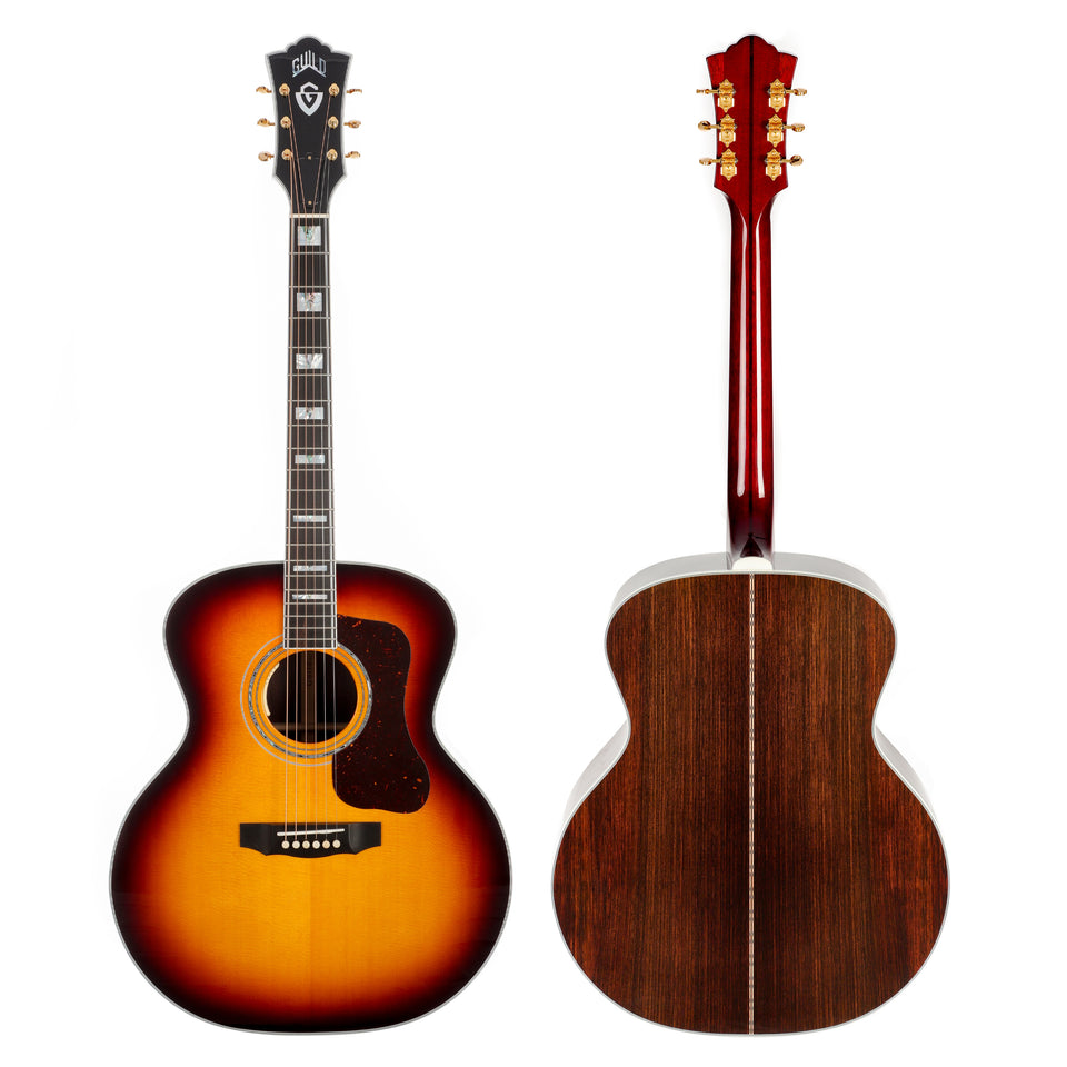Guild F-55E Sitka Spruce Jumbo Acoustic Electric Guitar - Antique Sunburst