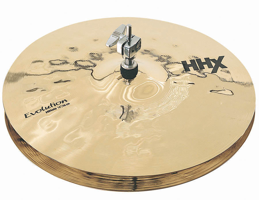 "Sabian 14"" HHX Evolution Hi-Hat Cymbals - Brilliant Finish"