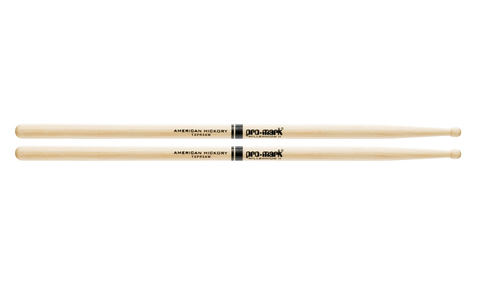 Promark TXPR5AW Hickory 5A Pro-Round Wood Tip drumstick