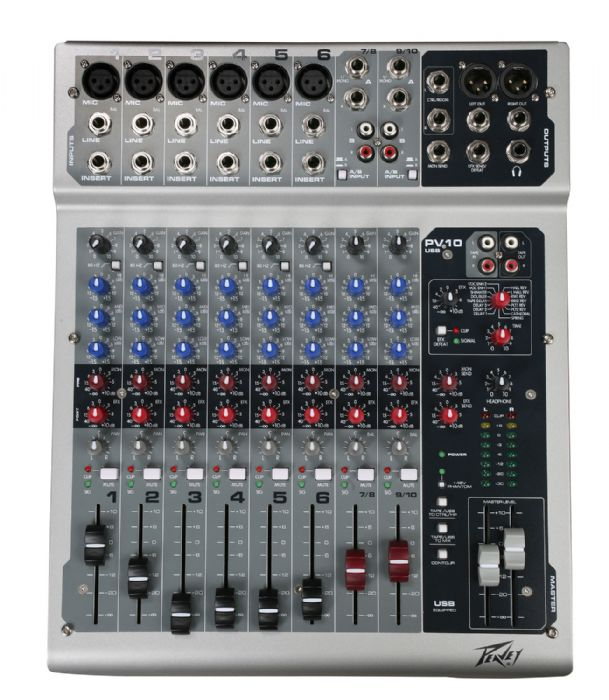 Peavey PV10USB Hi Quality Mixer w/USB Interface