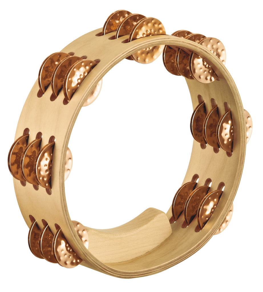 "Meinl Artisan Edition Compact 8"" Tambourine, Hammered Cymbal Bronze Jingles"