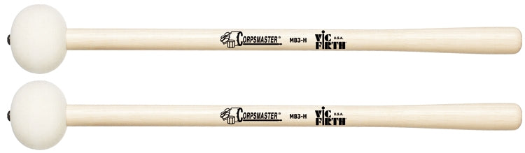 "Vic Firth MB3H Corpsmaster Marching Bass Drum Mallet, For 26"" - 28"" Bass Drums"