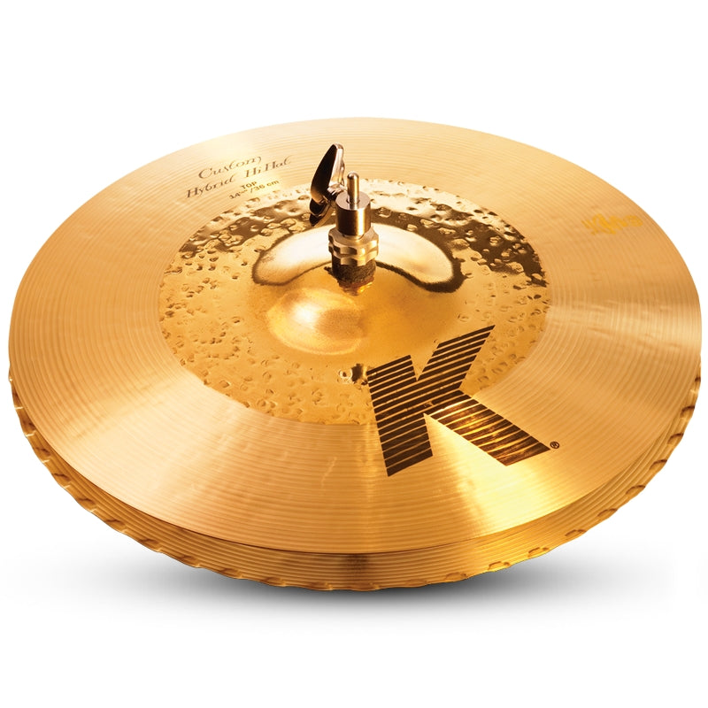 "Zildjian 14.25"" K Custom Hybrid Hi-Hat Cymbal - Bottom"