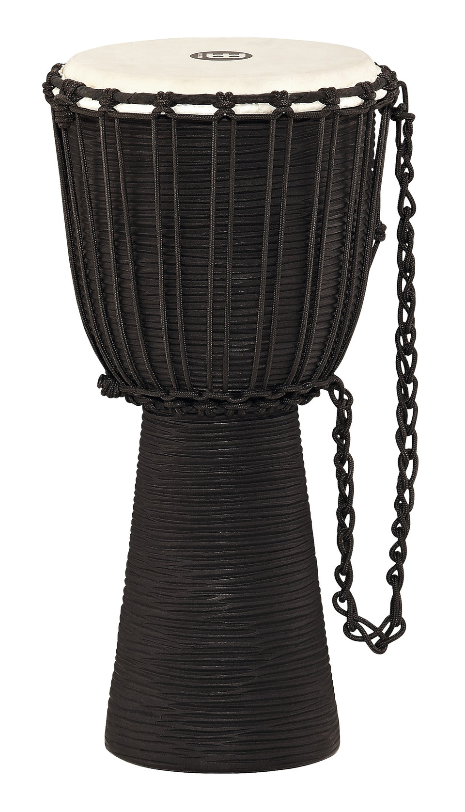 Meinl HDJ3-M Rope Tuned Headliner Series Wood Djembe Black River Series 10""