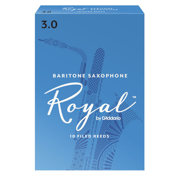 D'Addario RLB1030 Royal Baritone Sax Reeds, Strength 3.0, 10-Pack