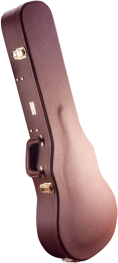 Gator Cases GW-335-BROWN Deluxe Wood Case For Semi-Hollow Guitars Such As Gibson 335 - Vintage Brown