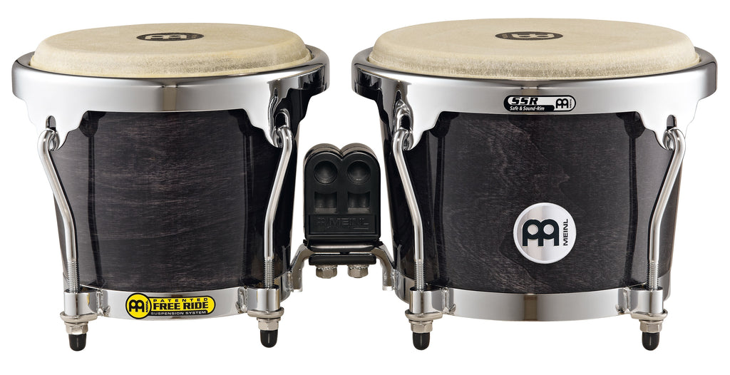 Meinl MB400EBP RAPC (Radial Ply Construction) Bongos - Ebony Black