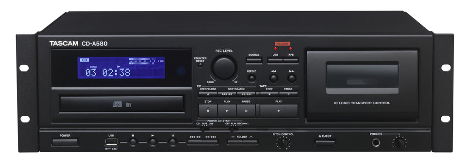 Tascam CD-A580 Cassette / CD / USB Player & Recorder