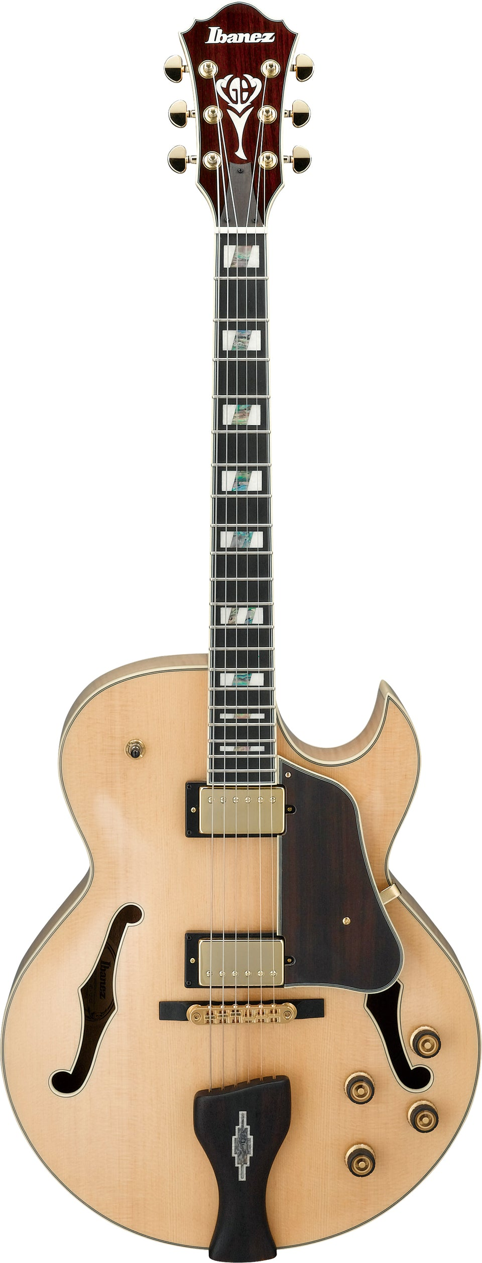 Ibanez LGB30 GB George Benson Series Hollow Body Electric Guitar - Natural