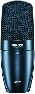 Shure SM27-LC Large Diaphragm, Side-Address Cardioid Condenser Microphone For Stage And Studio Applications